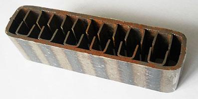 Конвективний канал теплообмінника товщиною 3 мм